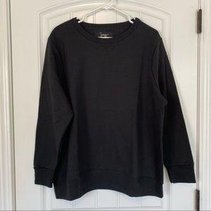 Just My Size Solid Black Sweatshirt 1X (16W) NWOT
